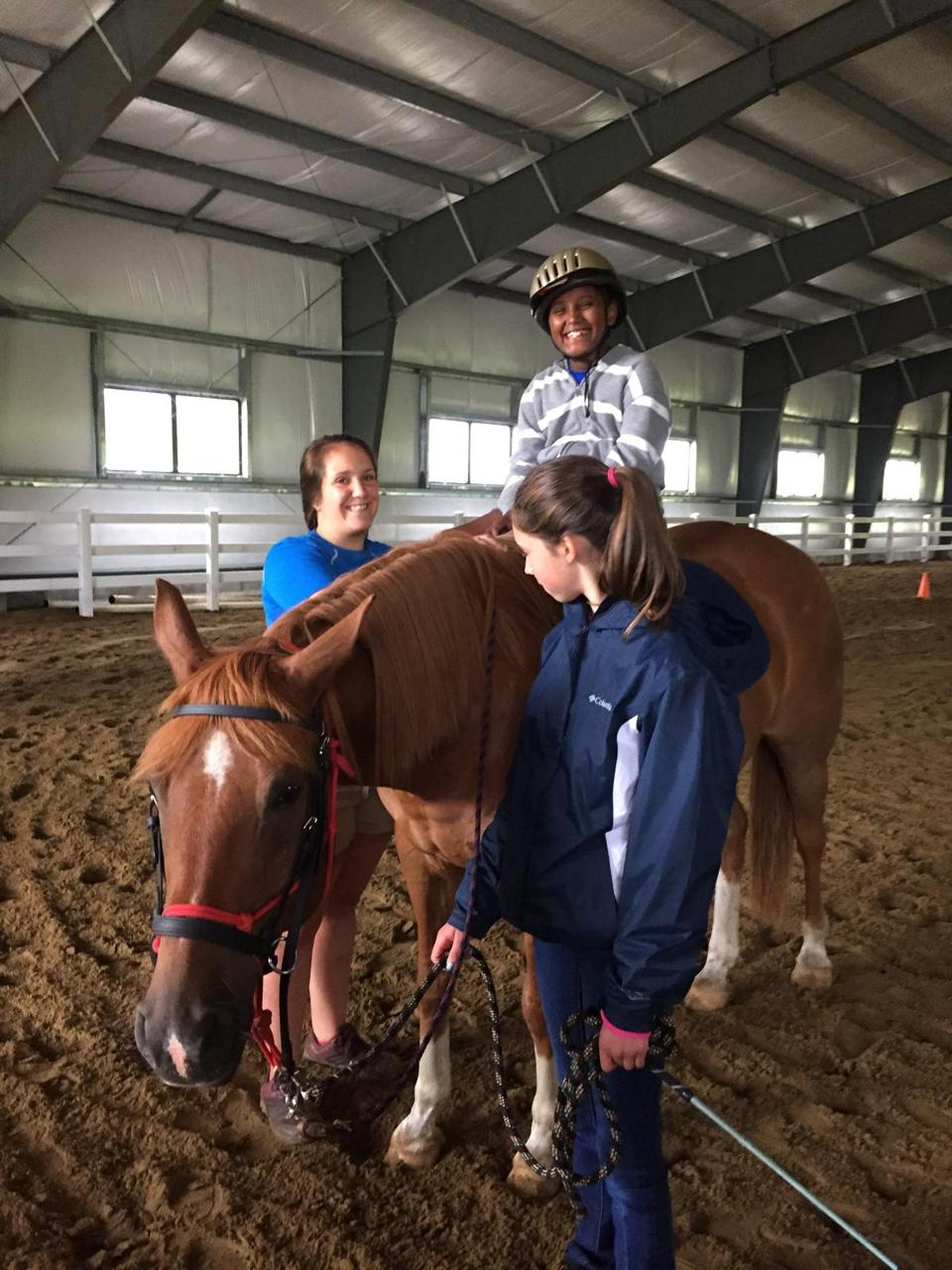 An adaptive horseback riding program at Smugglers' Notch in Vermont.