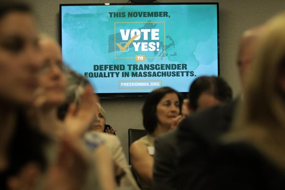 Boston, MA - 05/02/18 - The audience applauded a speaker. Freedom for All Massachusetts kicked off its campaign to protect transgender rights from repeal by ballot initiative in November and announced their coalition partners. (Lane Turner/Globe Staff) Reporter: (Stephanie Ebbert) Topic: (04transgender)