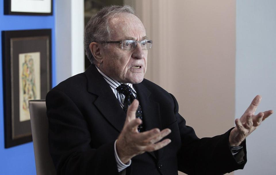 "Attorney and law professor Alan Dershowitz discusses allegations of sex with an underage girl levelled against him, during an interview at his home in Miami Beach January 5, 2015. Buckingham Palace denied on Friday allegations made in Florida court documents by a woman, who said she was forced as a minor by financier Jeffrey Epstein to have sex with several people, including Prince Andrew, the second son of Queen Elizabeth. Another of those named by the woman, Dershowitz, said he has assembled a team of ""eminent"" lawyers to fight the sexual abuse allegations made against him in last week's filing in Florida federal court. REUTERS/Andrew Innerarity (UNITED STATES - Tags: CRIME LAW)"