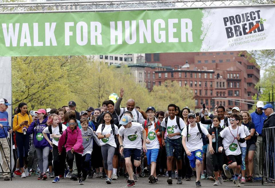 People took off from the starting line of the 50th annual Walk for Hunger earlier this year.