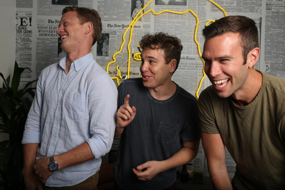 pod save america\u0027s hosts on the year\u0027s best political scandal so farfrom left, the founders of crooked media and \u201cpod save america\u201d tommy