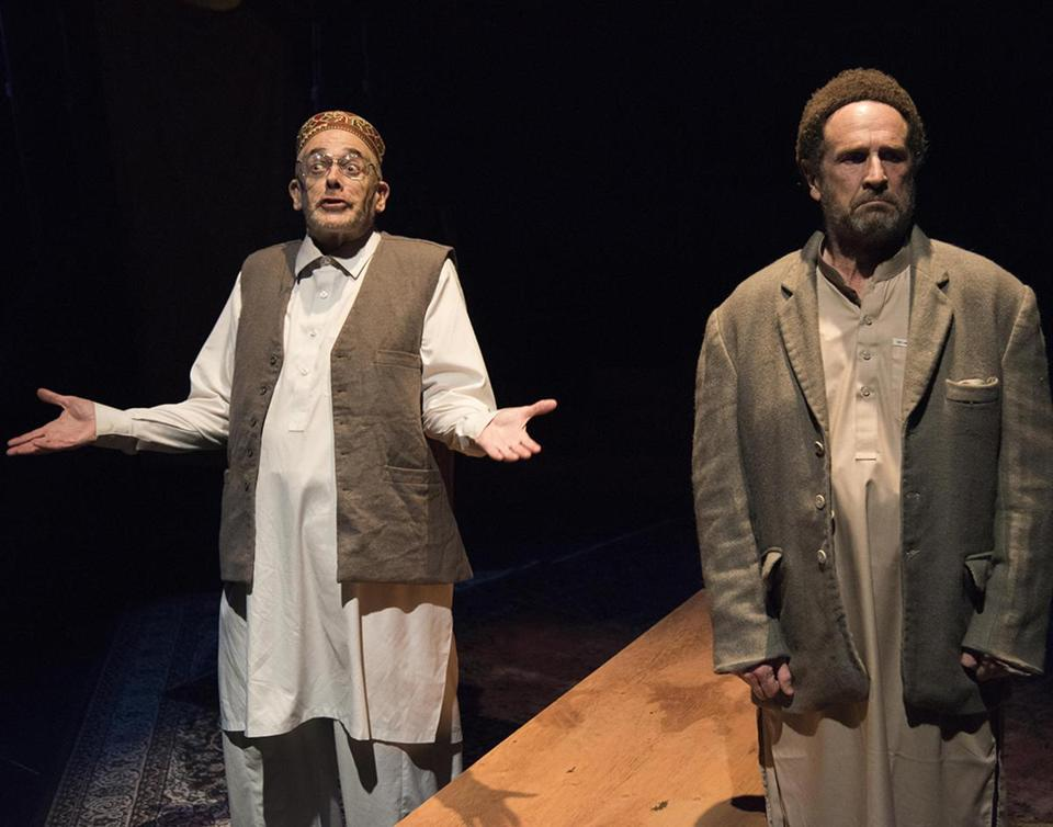 "Joel Colodner (left) and Jeremiah Kissel in ""Two Jews Walk Into a War . . ."""