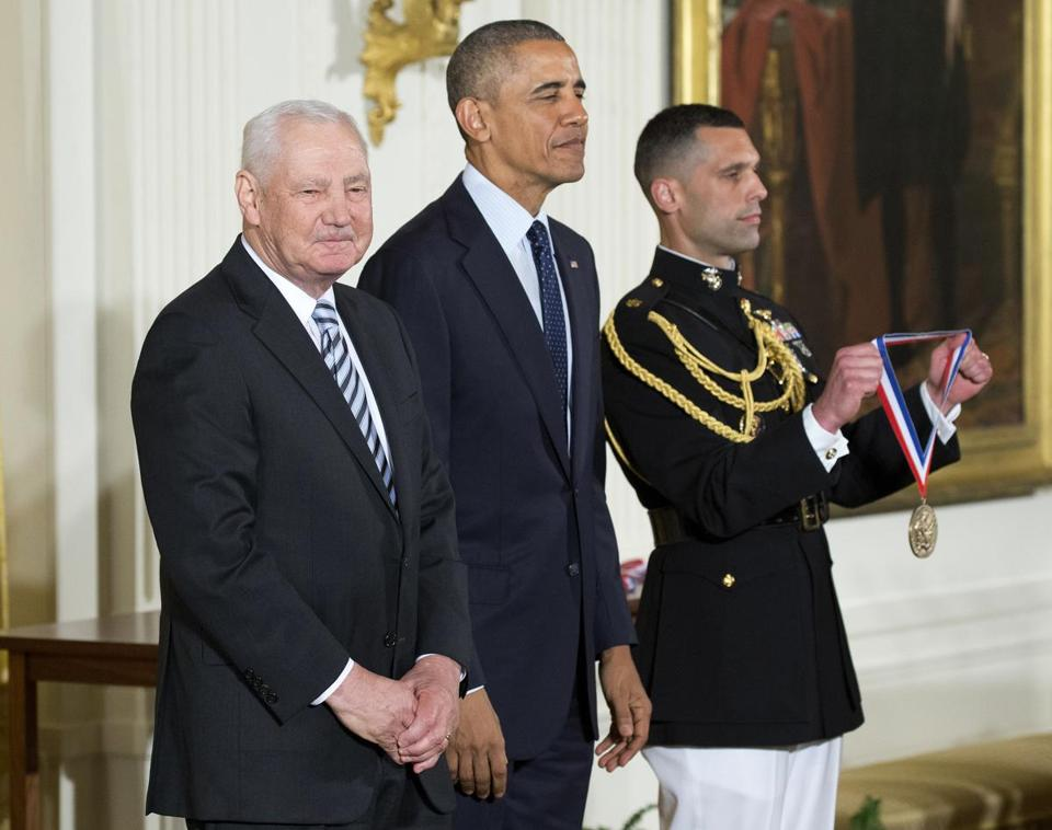 Dr. Falkow shared a White House stage with President Obama when he received the National Medal of Science.