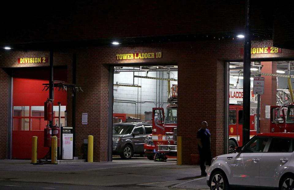 A woman firefighter said a male co-worker assaulted her in this Jamaica Plain firehouse in January. He pleaded not guilty last month.