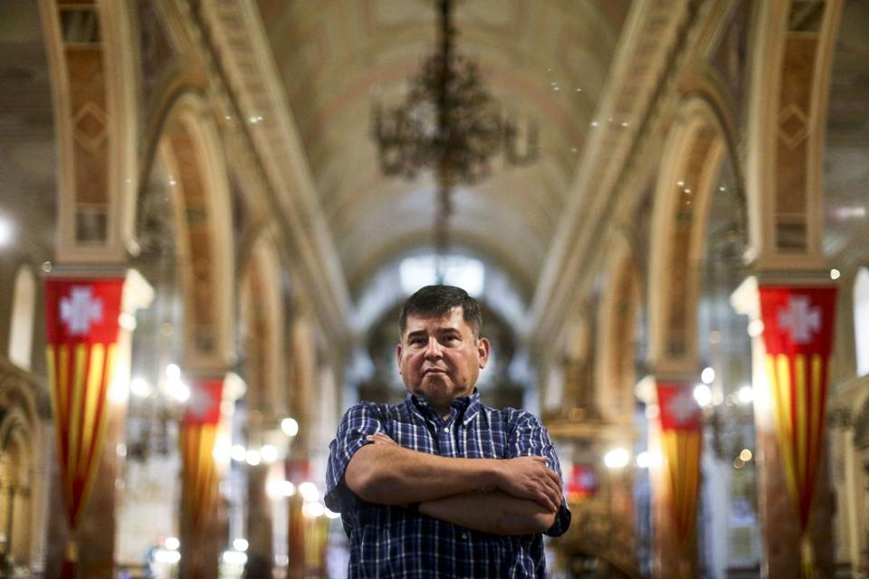 Jaime Concha, in La Merced Catholic Church, in Santiago, Chile, said he was raped by a priest as a 12-year-old.