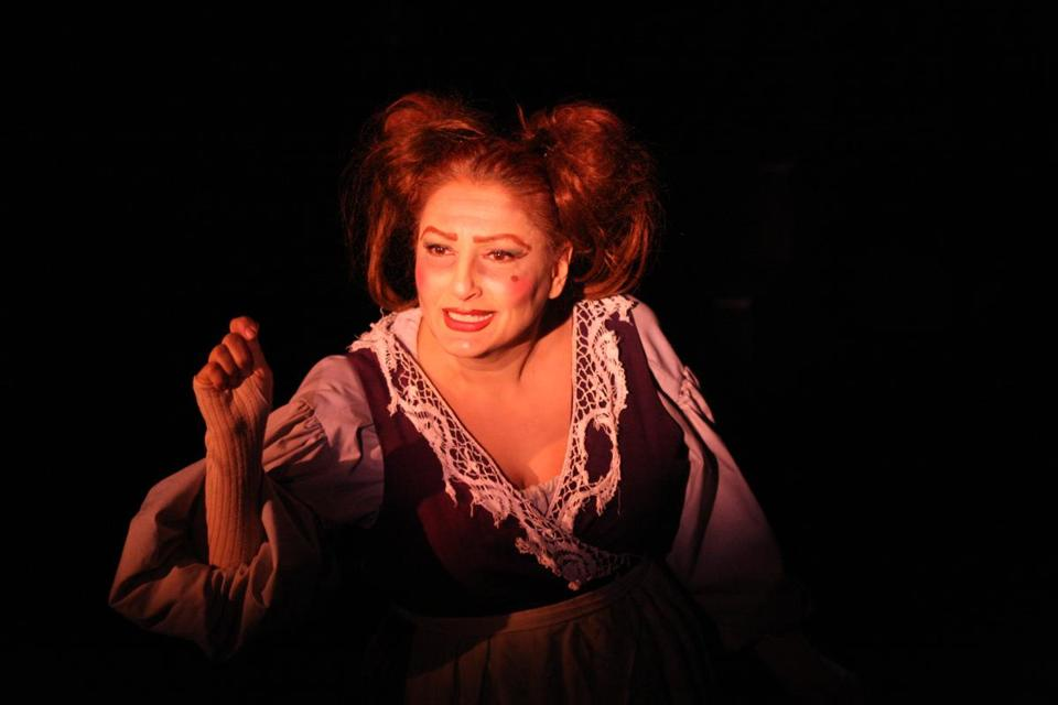 "Shana Dirik as Mrs. Lovett in a Metro Stage Company production of ""Sweeney Todd"" in 2009."