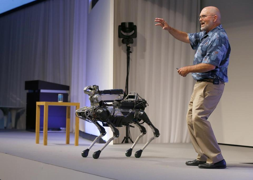 "Boston Dynamics will sell the robots, first for commercial uses like ""security"" and eventually to the public, company founder Marc Raibert said last week."