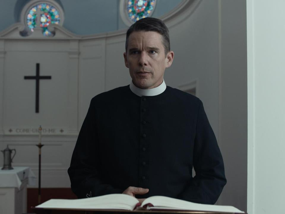 "Ethan Hawke stars as a small-town pastor in ""First Reformed."""