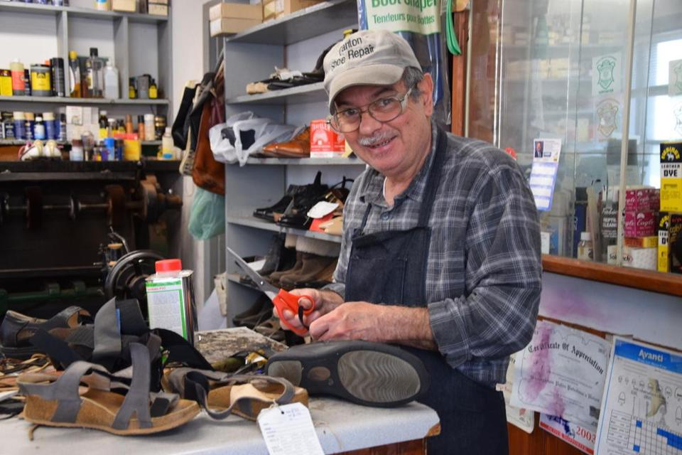 How to make old boots look new? Why Google it when you can take it to Canton Shoe Repair's Nick Papaconstadinos?