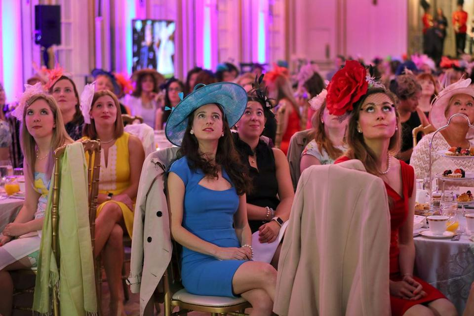 The Fairmont Copley Plaza Hotel in Boston, with its big screen, hosted a royal wedding viewing event Saturday morning.
