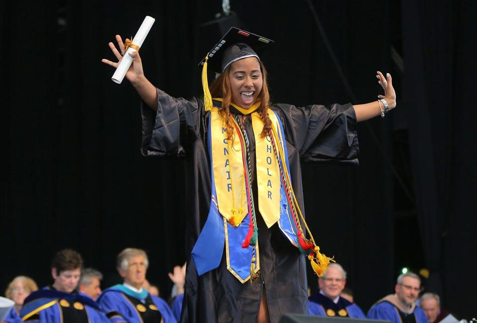 Amberly Ann Mendes celebrated her bachelor's degree in biology