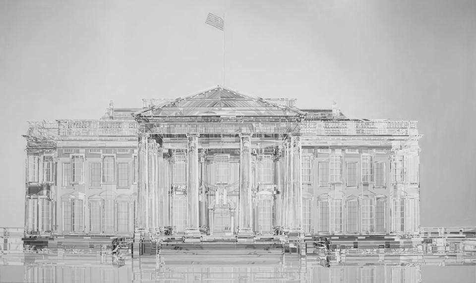 """White House,"" from the Lidzie Alvisa and Donis Llago's show ""Transparent?""at A R E A."