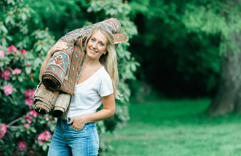 Lindsey Graziano first began collecting vintage rugs to fashion an aisle for her wedding ceremony.