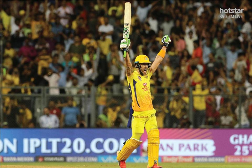 A cricket match that featured Faf Du Plessis of Chennai Super Kings on May 22 in India set a new record for live viewership on the Internet.