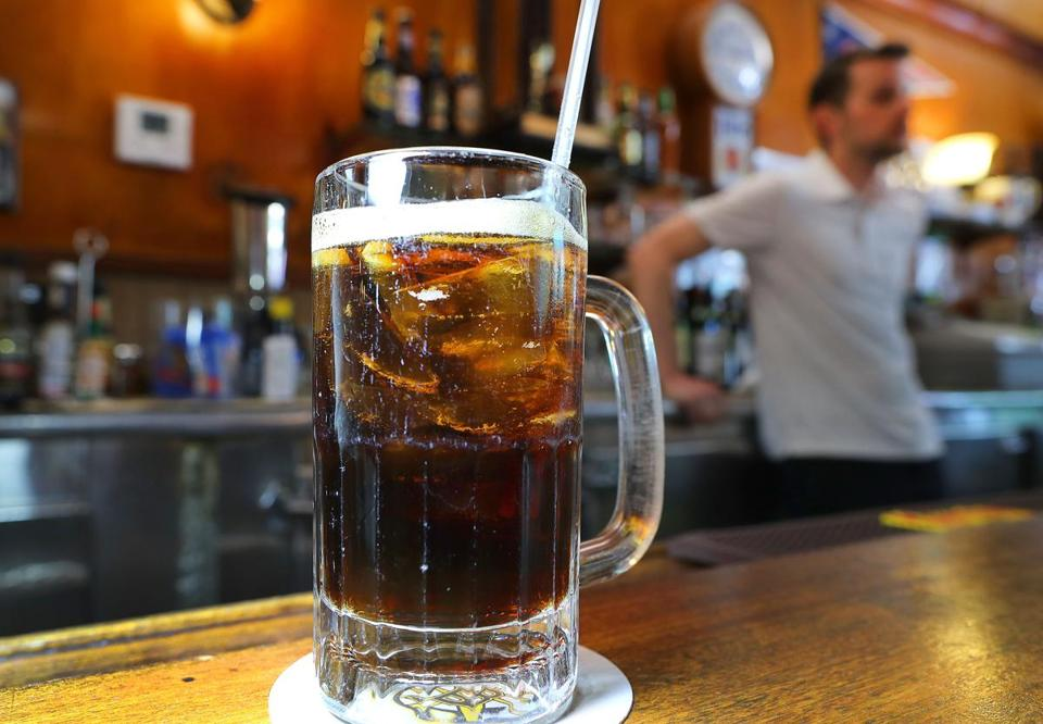 Tonic is on the menu at the Pleasant Cafe in Roslindale, and a Coke was poured upon ordering one by bartender Jack Wicker.