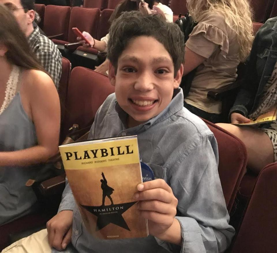 "Andrew Warhaftig, shown attending a performance of ""Hamilton"" in New York City, played soccer and other sports until he was no longer able, and then focused on music. He also helped raise nearly $750,000 for focal segmental glomerulosclerosis research."