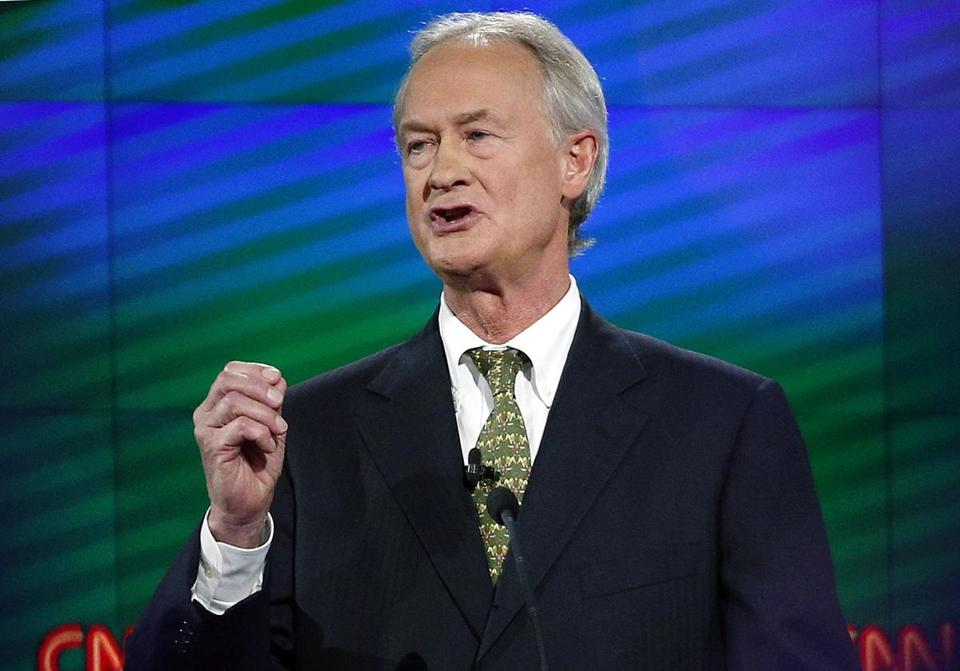 Former Rhode Island Gov. Lincoln Chafee announced Tuesday that he will not run for his former US Senate seat.
