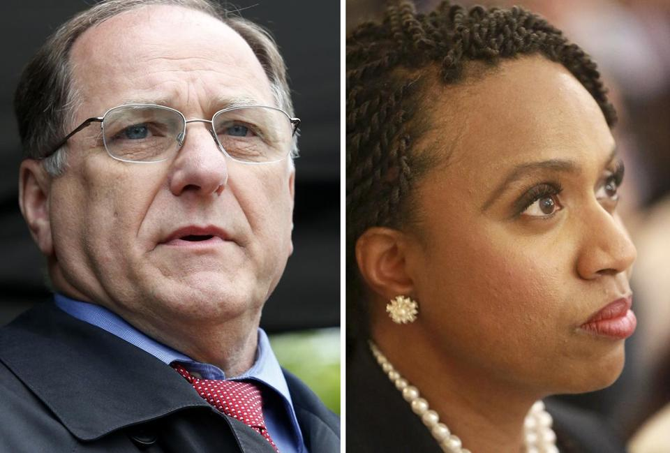Representative Mike Capuano and Boston City Councilor Ayanna Pressley.