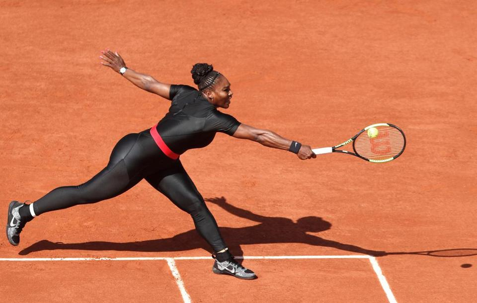 Williams reaches for a backhand.