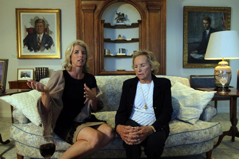 Ethel Kennedy (right) and her daughter, Rory, spoke to the Globe in 2012 about Rory's documentary on her mother.