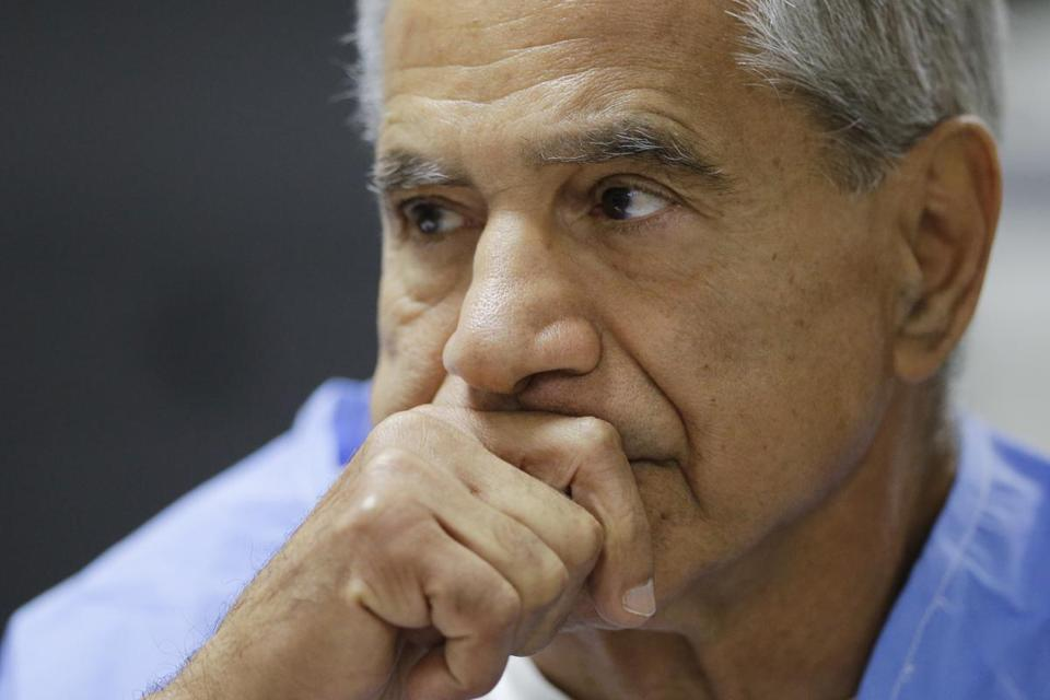Sirhan Sirhan at a parole hearing in February 2016 in San Diego.