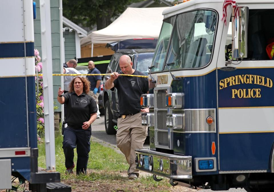 SPRINGFIELD, MA - 5/31/2018: Investigation of at least two suspicious deaths and police looking for more bodies at 1333 Page Blvd Springfield. Steward Weldon held on $1million bail and is accused of inflicting injuries on kidnapped Springfield woman. (David L Ryan/Globe Staff ) SECTION: METRO TOPIC 01springfield