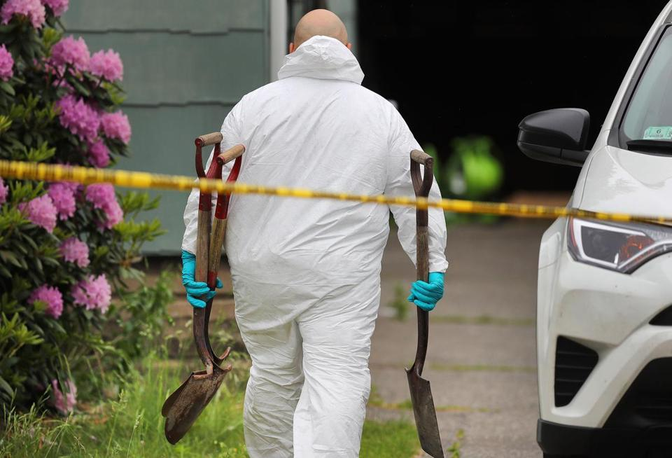 Investigators continued to work at the home and yard of Stuart Weldon on Page Boulevard on Friday.