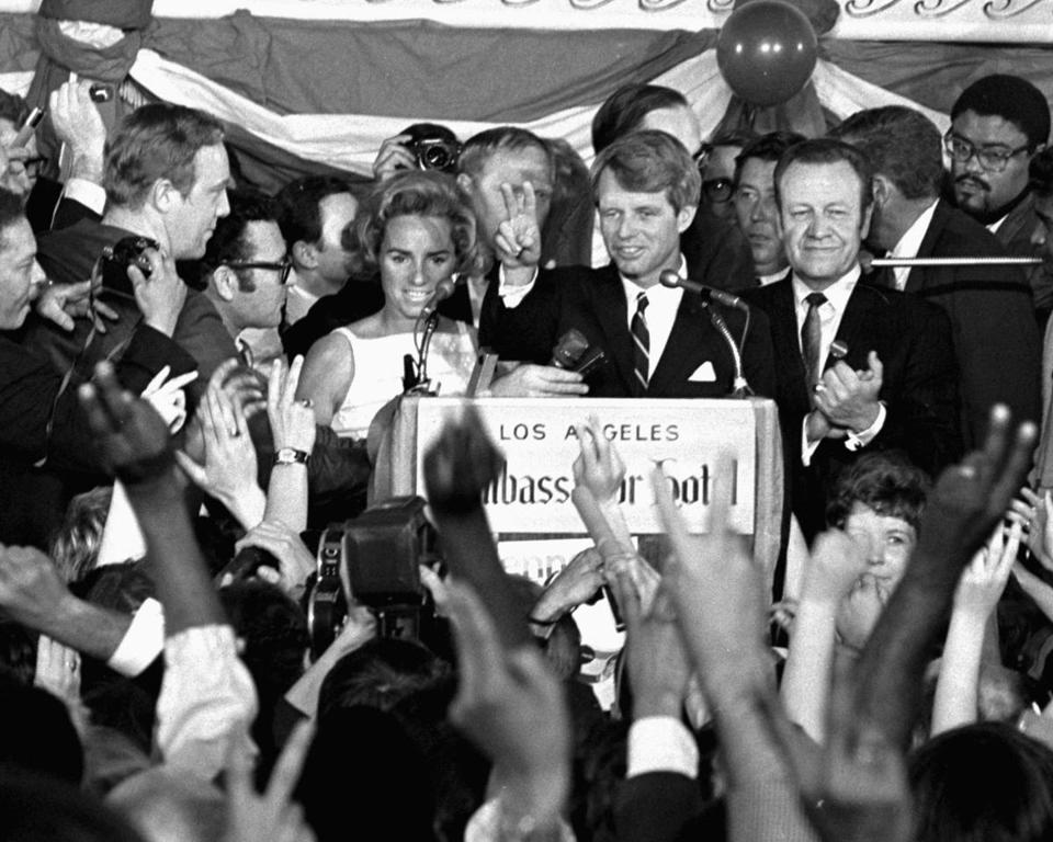 Kennedy spoke to campaign workers in Los Angeles minutes before he was shot on June 5, 1968.