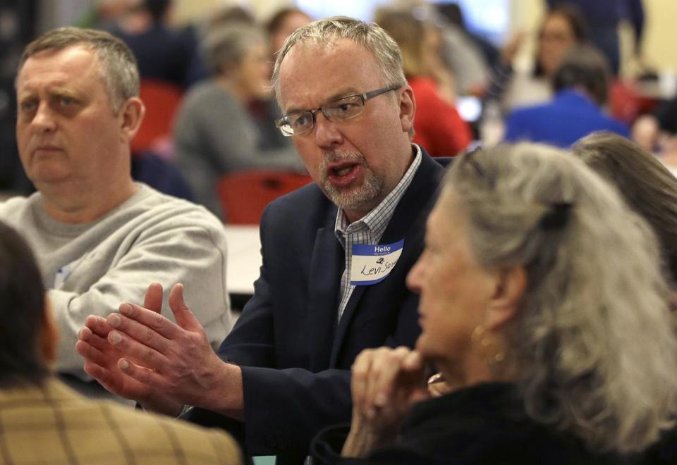 Levi Sanders, candidate for US Congress in New Hampshire.
