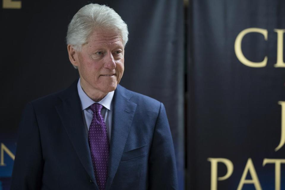 "Former President Bill Clinton at an event on June 5 to promote his new novel with author James Patterson, ""The President is Missing."""