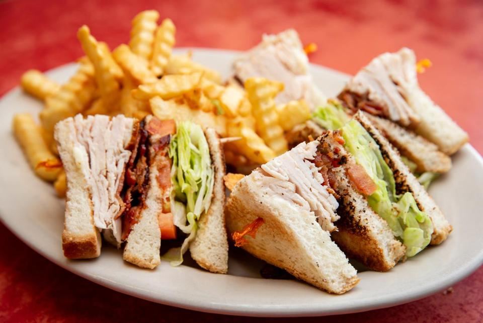 The turkey club sandwich at Knotty Pine Lunch in Auburndale.