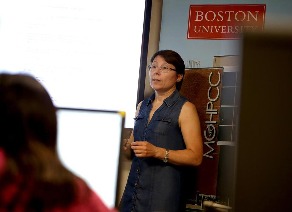 At Boston University, Katia Oleinik leads a group of software engineers who support researchers with computation needs.