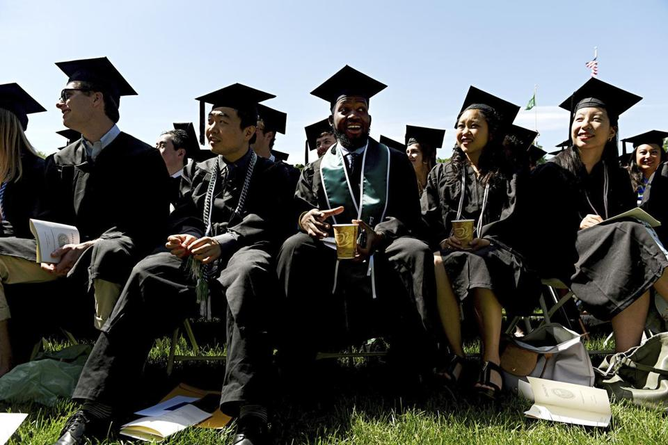 Dartmouth graduates listened to Kaling's speech.