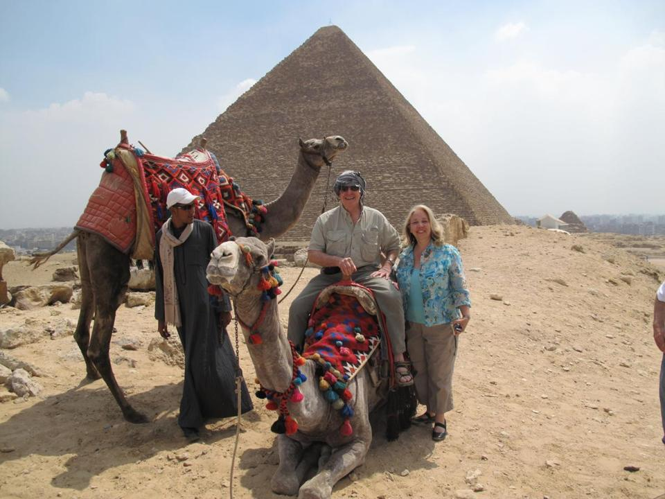 Mike Thiel and Gail Richard in Egypt in 2011.