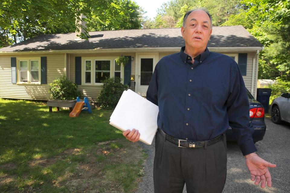 Sharon, MA - 6/12/18 - Barry Arntz talks about the $119, 425.61 bill of deferred taxes and interest due to the town of Sharon, for his mother's home. Photo by Pat Greenhouse/Globe Staff Topic: 18consumer Reporter: Sean Murphy