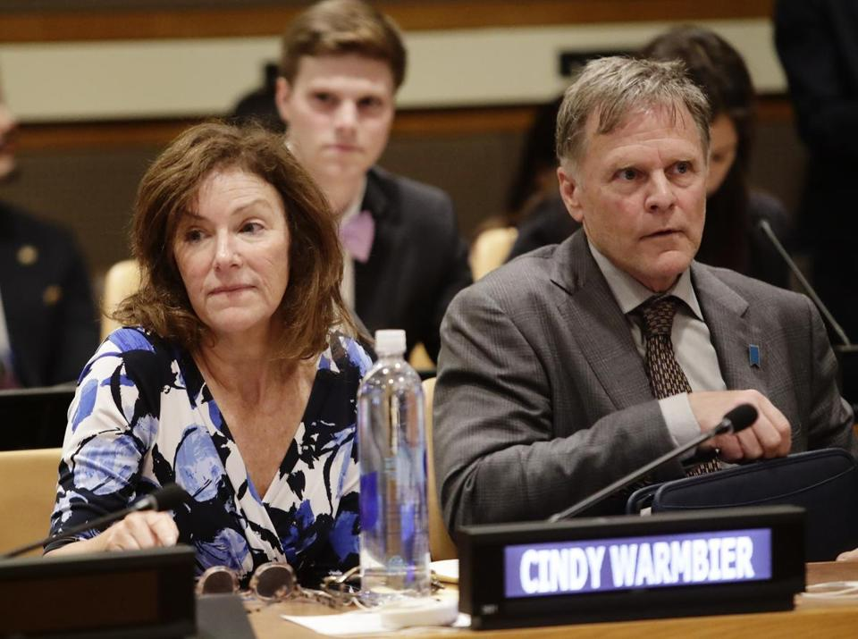 Cindy and Fred Warmbier, whose son Otto died after being jailed in North Korea.