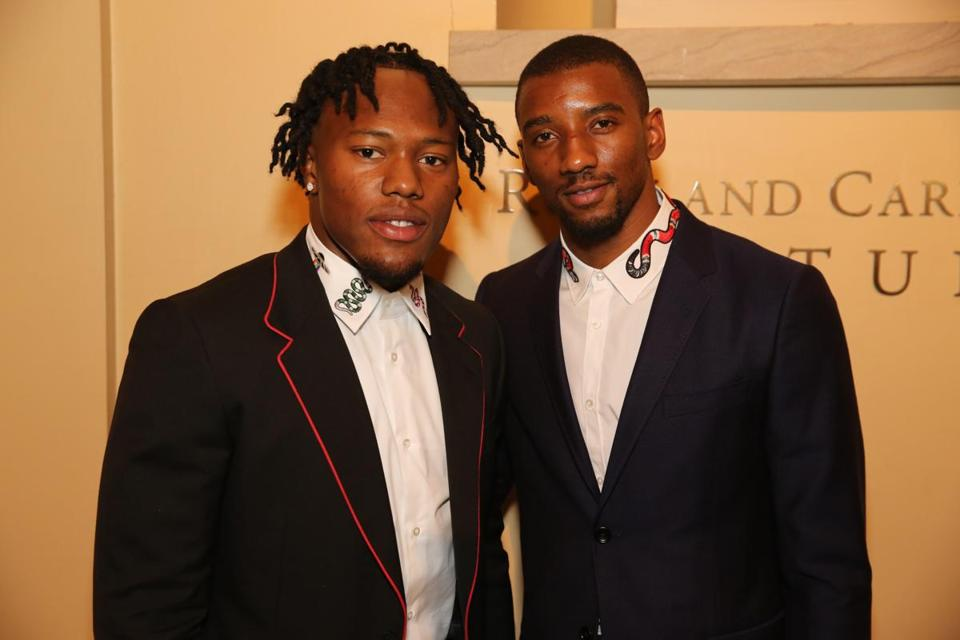 Cyrus Jones (left) and Malcolm Mitchell at the MFA's annual Summer Party.