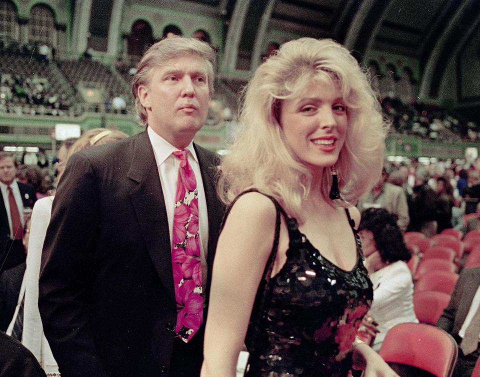 Donald Trump with then-girlfriend Marla Maples in 1991.