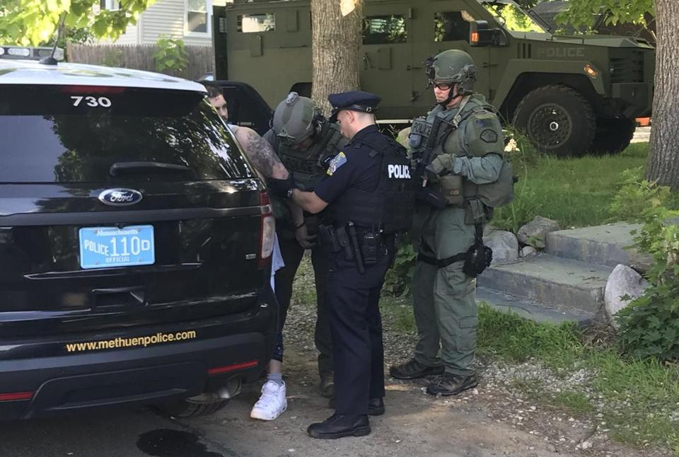 Police arrested Steven O'Neil outside his home on College Lane in Methuen.