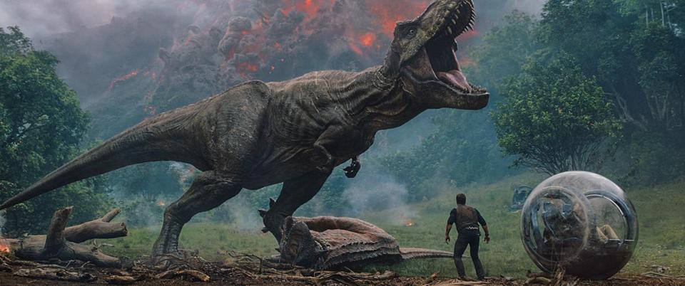"A scene from ""Jurassic World: Fallen Kingdom."""
