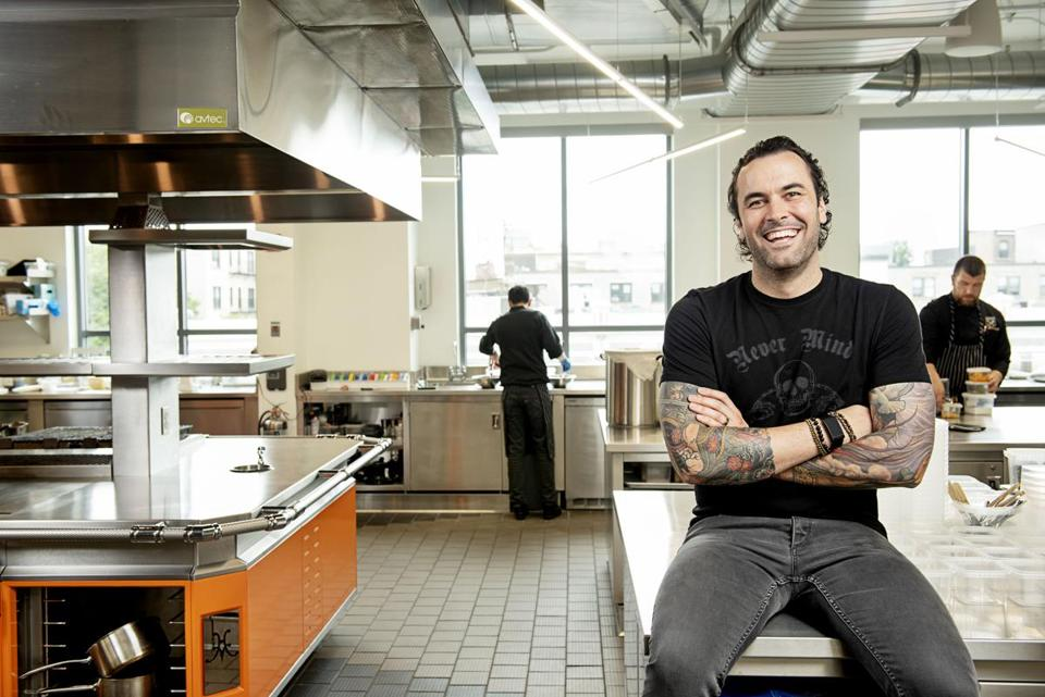 Adam Melonas at Chew labs in Boston's Fenway neighborhood.