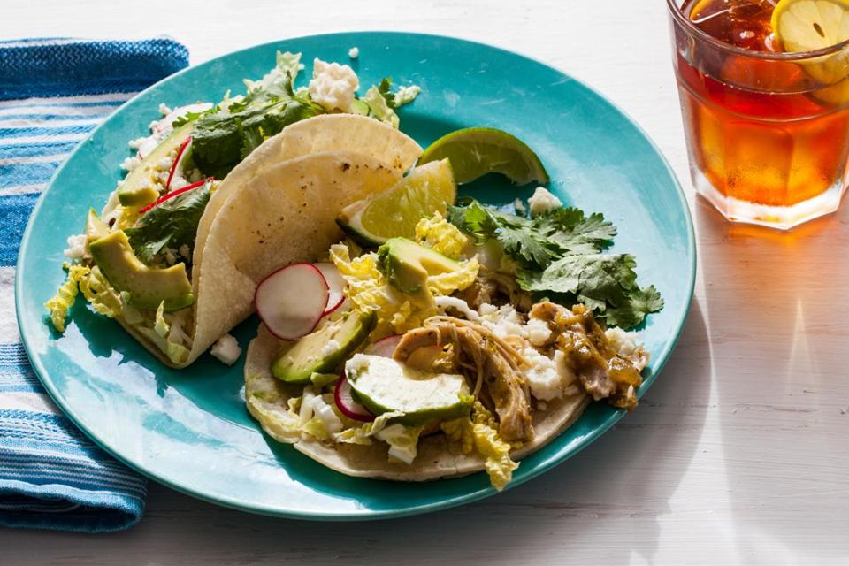 Recipe Pulled Chicken Tacos With Tomatilla Salsa Are Almost Like