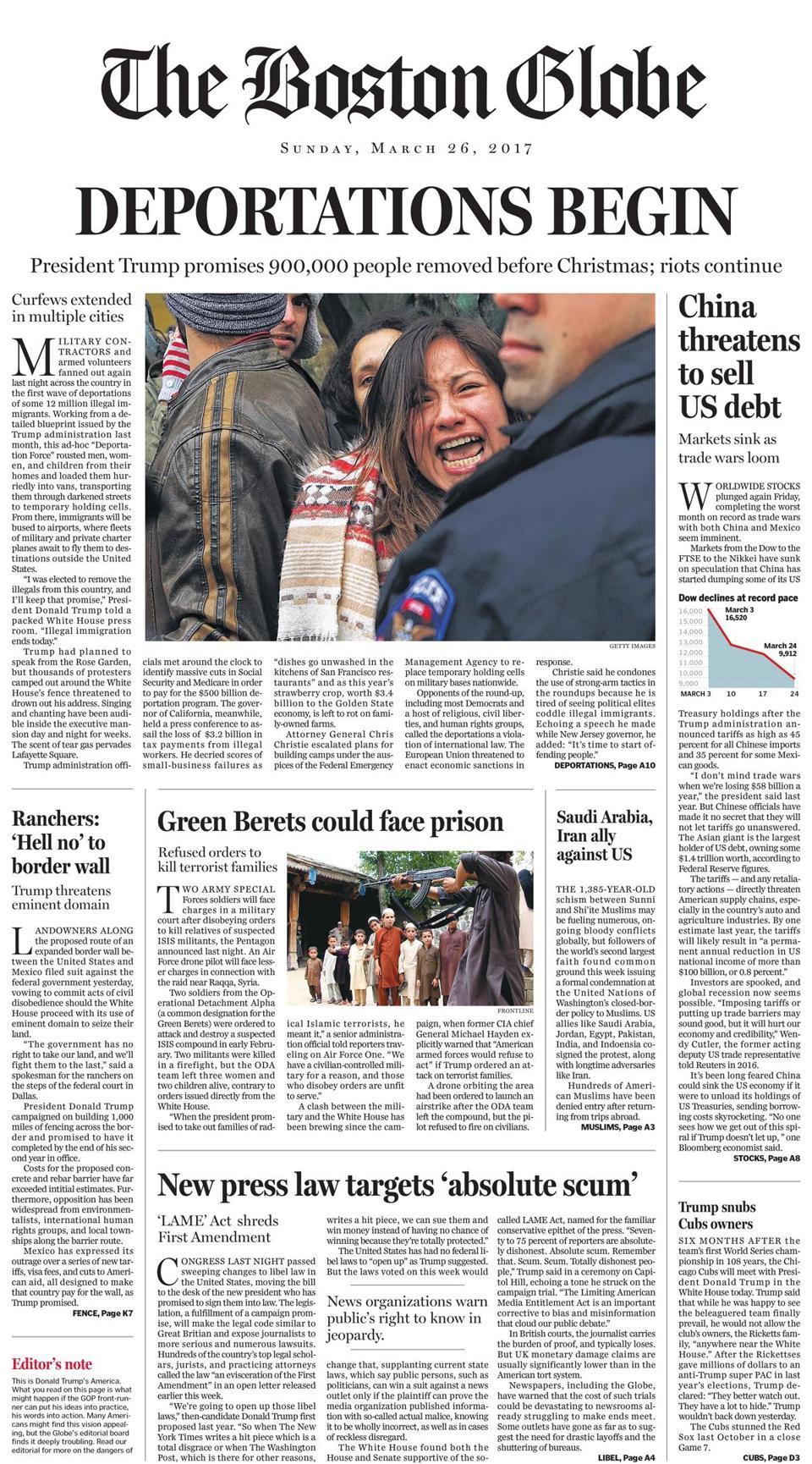 boston globe front page pdf