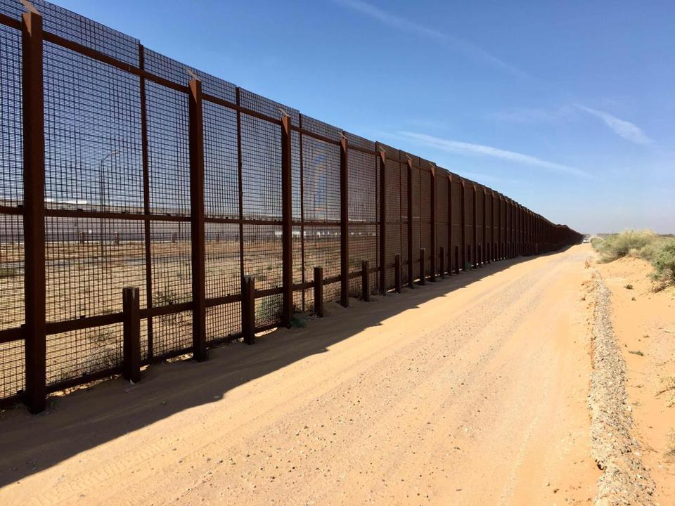 The border fence near Santa Teresa, N.M., the town where Lidia Souza and her son Diogo presented herself to immigration authorities, seeking asylum from imminent, personal violence in their native Brazil.