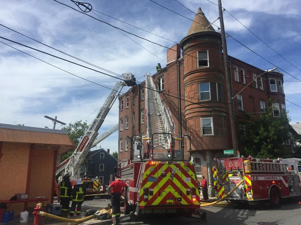 At Least Three Ladder Trucks Were Used To Fight The Fire