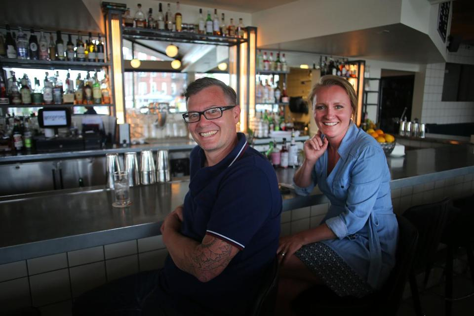 Birch Shambaugh and Fayth Preyer, owners of Woodford Food & Beverage restaurant, are seeing the Woodfords Corner neighborhood come alive.