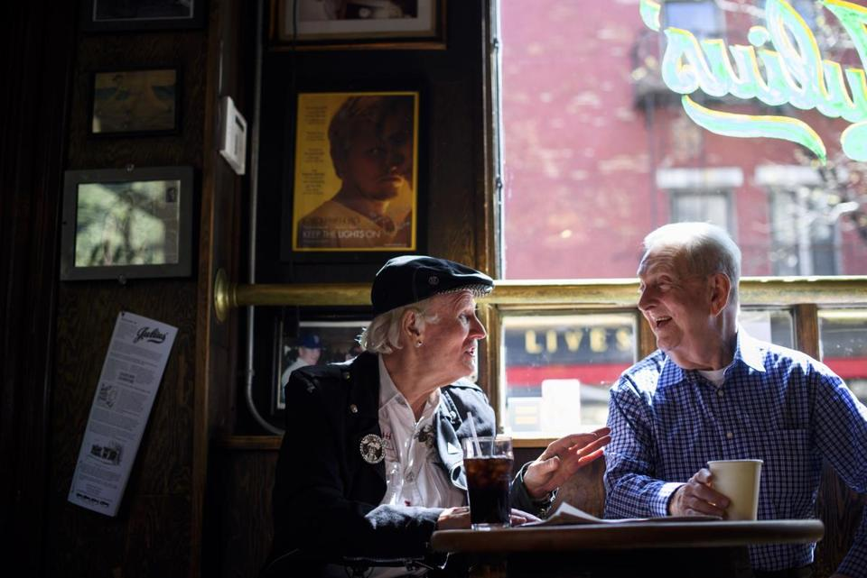 Dick Leitsch (right) led a pioneering act of civil disobedience to secure the right of gays to be served in a licensed bar.