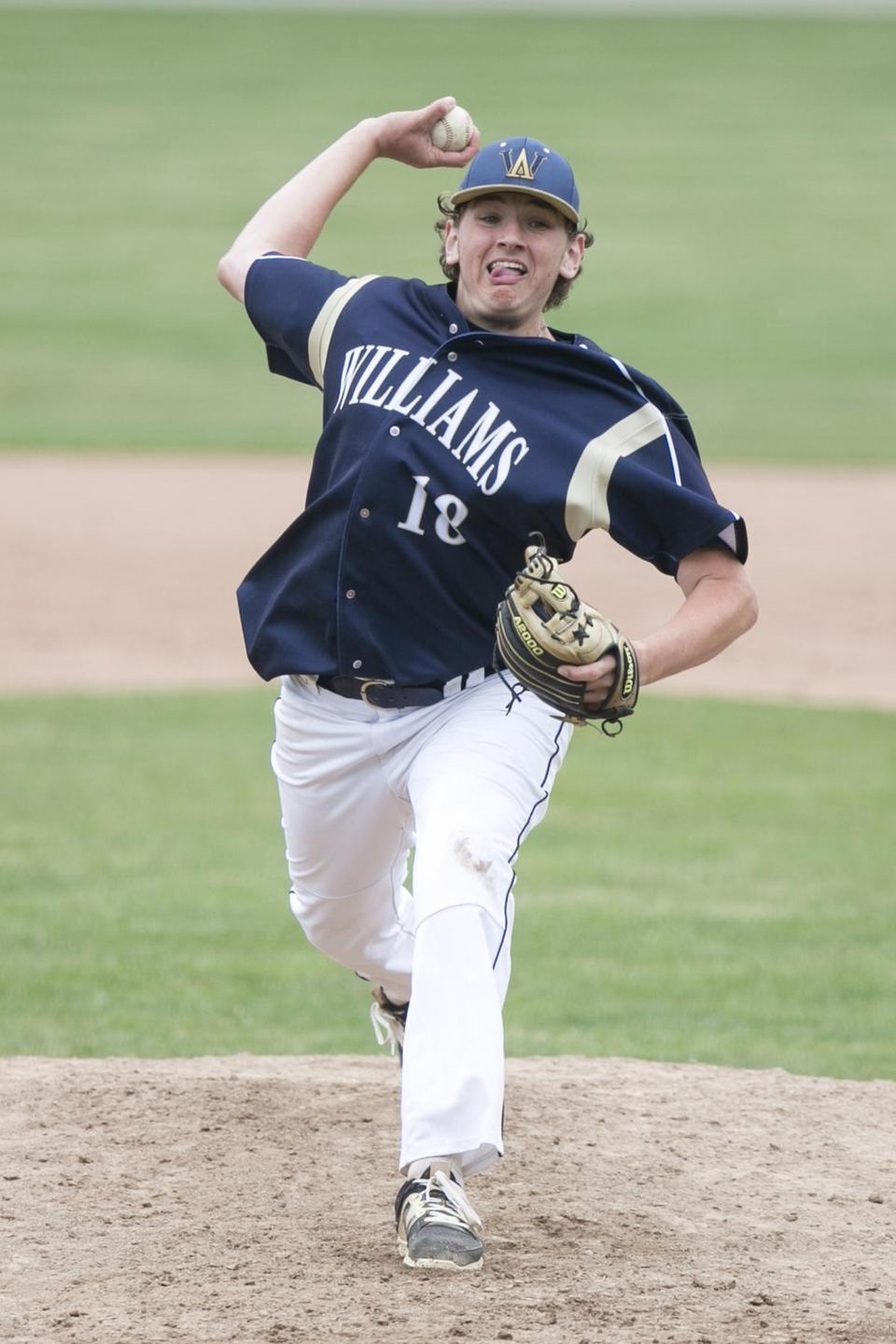 Brandon Sullivan delivers a pitch for Archbishop Williams in the fifth inning.