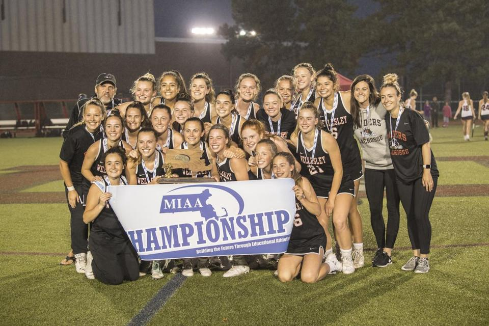 Wellesley players had reason to be all smiles — they are the Division 1 state champions.