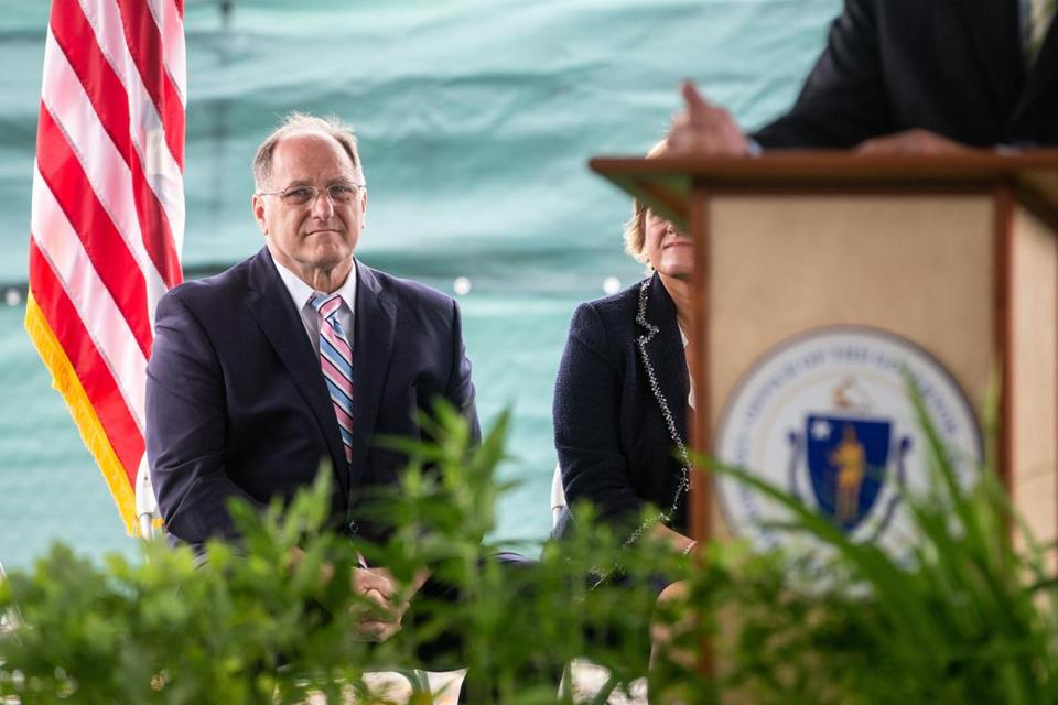 Representative Michael E. Capuano at the Green Line ground-breaking last month.